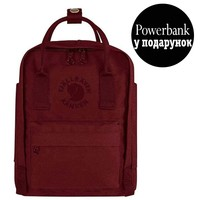 Фото Рюкзак Fjallraven Re-Kanken Mini 7 л бордовый
