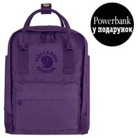 Фото Рюкзак Fjallraven Re-Kanken Mini 7 л фиолетовый
